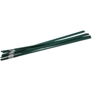 viagrow 4 ft steel coated plant stake support 10 pack