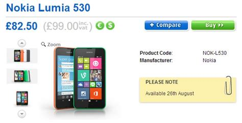 nokia lumia 530 arrives in the uk on sale for 163 99 outright