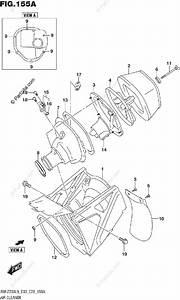 Suzuki Motorcycle 2019 Oem Parts Diagram For Air Cleaner