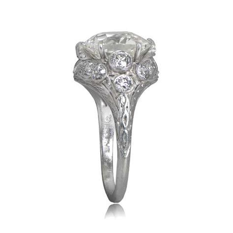 4 carat vintage engagement ring estate jewelry