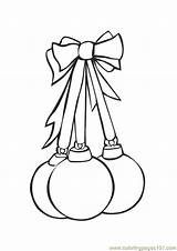 Christmas Coloring Pages Bulb Flower Template Colors Trees sketch template