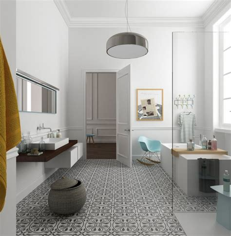 bidet pour salle de bain eclectic bathrooms with gorgeous patterned tile floors the interior collective