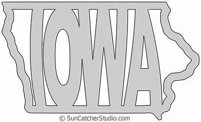 Outline State Saw Scroll Patterns Iowa Printable