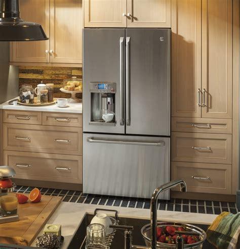 ge cafe counter depth refrigerator cye22ushss ge keurig refrigerator with k cup coffee brewing