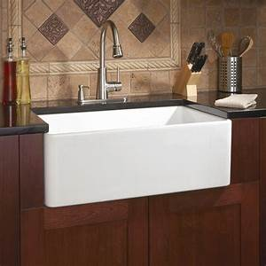 30quot baldwin single bowl fireclay farmhouse kitchen sink With 30 apron front sink white