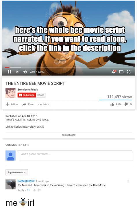 Bee Movie Script Meme - funny bee movie memes of 2017 on sizzle bee movie but