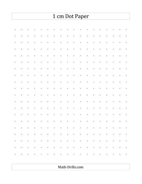 cm dot paper