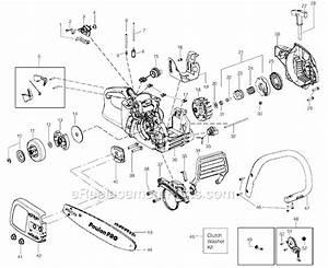 Gas Line Diagram Poulan Pp3816 Pro