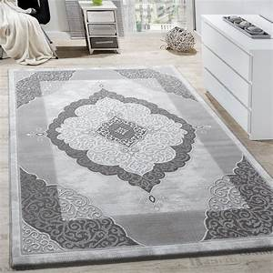 Wohnzimmer Teppich Grau : teppich wohnzimmer ornament abstrakt grau design teppiche ~ Whattoseeinmadrid.com Haus und Dekorationen