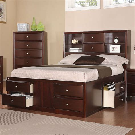 Bed Bookcase by Asian Contemporary Style Bookcase Chest Master Bed Bedroom