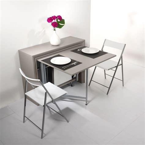 table avec chaise intégrée archimede set console set avec table pliable 170 x 90 cm