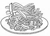 Fries French Coloring Pages Colouring Drawing Printable Foods Getcolorings Getdrawings sketch template