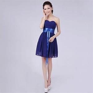 navy royal blue bridesmaid dress plus size short a line ...