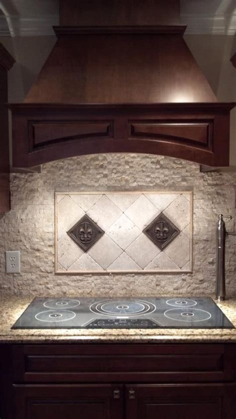 kitchen backsplash fleur de lis backsplash  tile