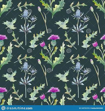 Seamless Spring Wildflowers Leaves Fabric Floral Flowers