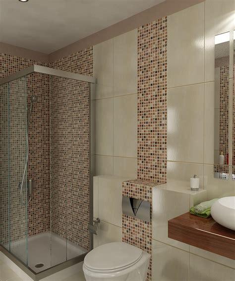 Bilder  3d Interieur Badezimmer Braunbeigeweiß 'baie