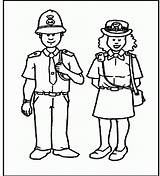 Police Coloring Officer Pages Woman Officers Preschool Policeman Printable Template Sketch Cartoon Female Coloringhome Popular sketch template