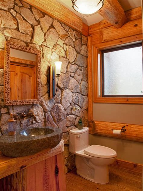 cabin style decorating ideas rustic bathroom lighting