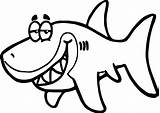 Shark Coloring Funny Fish Pages Cartoon Sunglasses Drawing Printable Underwater Getdrawings Clipartmag Smiling Wide sketch template