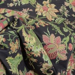 Spencer Home Decor Jacobean Floral Curtains by Brown Rust Green Jacobean Floral Upholstery Fabric