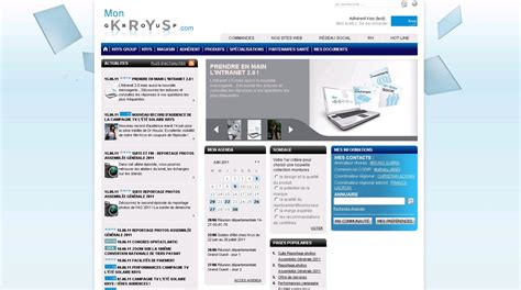 Intranet Home Page : Intranet Examples