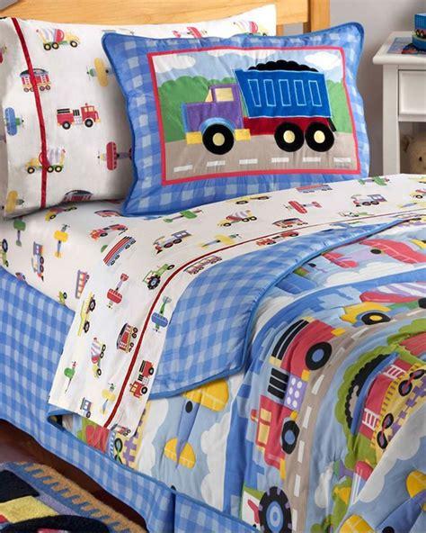 kids train plane  truck bedding boys bedding