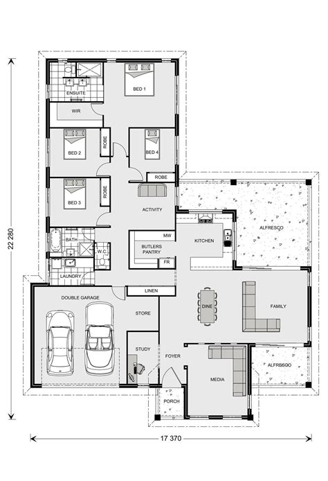 Butlers Pantry Floor Plans Parkview 290 4b Study Plus Butlers Pantry Gj