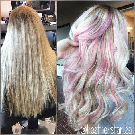 Platinum Hair Pastel Pink Peekaboos Pastel Pink Hair