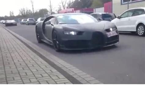 bugatti chiron spied testing  veyron porsche
