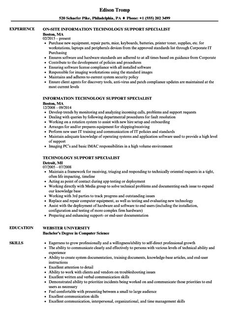 Technical Resume Creator by Information Technology Specialist Resume Bijeefopijburg Nl