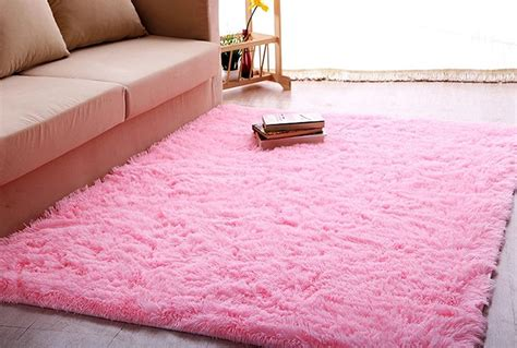 pink bedroom rug fluffy rugs anti skid shaggy area rug dining room bedroom 12847 | B6 3691 2