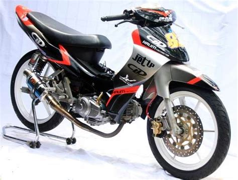 Motor Jupiter Z Road Race by Modif Jupiter Z Standar Burhan Ala Road Race Airbrush Moto