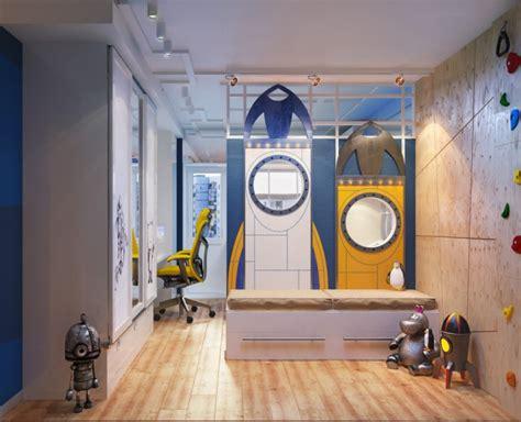 chambre peinte chambre pour enfant sur le thème de l 39 espace