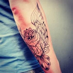 Tatouage Loup Graphique : tatouage chouette graphique inkage ~ Mglfilm.com Idées de Décoration