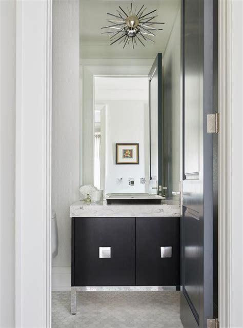 striped powder room transitional bathroom hgtv