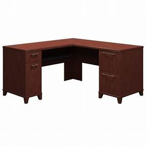 Bush business furniture enterprise 60quot l shaped desk in for In home furniture enterprise