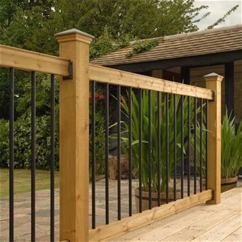 wood railing kits traditional series pine straight black baluster   home