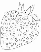 Strawberry Coloring Fruit Pages sketch template