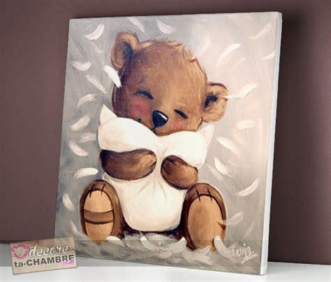 cadre ourson chambre bébé tableau ourson tendresse vente tableau ourson pour
