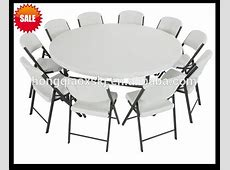 6ft Plastic Folding Round Table,Banquet Folding Table,Big