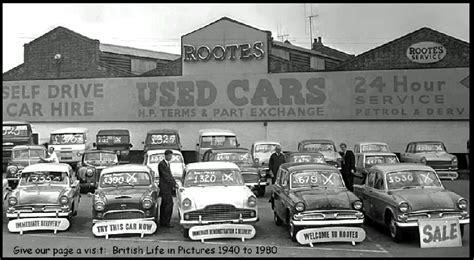 car sales yard british nosalgia  cars