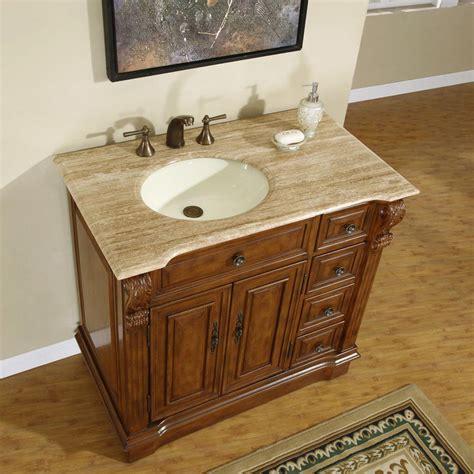 ivory ceramic kitchen sink silkroad exclusive 38 quot single sink cabinet left 4882