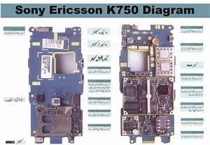 Mobile Repairing Cources  Free Mobile Diagram Circuit Sony Ericsson U0026 39 S K750 Layout Diagram In Urdu