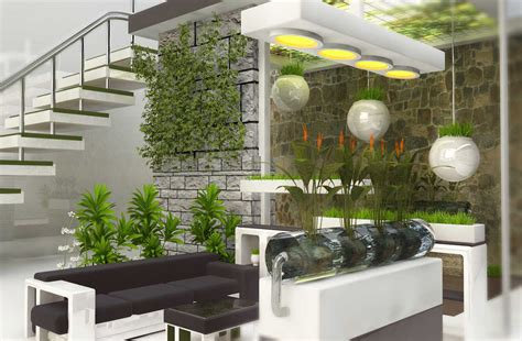 model taman hias unik  rumah minimalis modern simomot