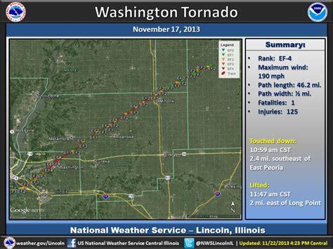 Washington Illinois Tornado Path Map