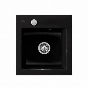 Evier Noir 1 Bac : vier en c ramique noir brillant villeroy boch de la ~ Dailycaller-alerts.com Idées de Décoration