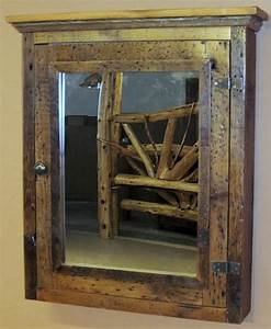 Barn wood medicine cabinet with mirror barn wood for Barnwood medicine cabinet