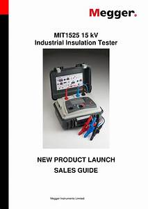 Mit1525 15 Kv Industrial Insulation Tester New Product