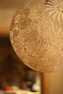 Doily lamp diy decor hacks for Doily paper floor lamp