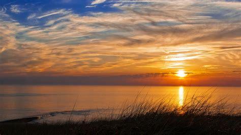beach sunset background wallpaper
